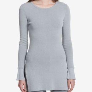 Calvin Klein Flare-Sleeve Heather Granite Sweater